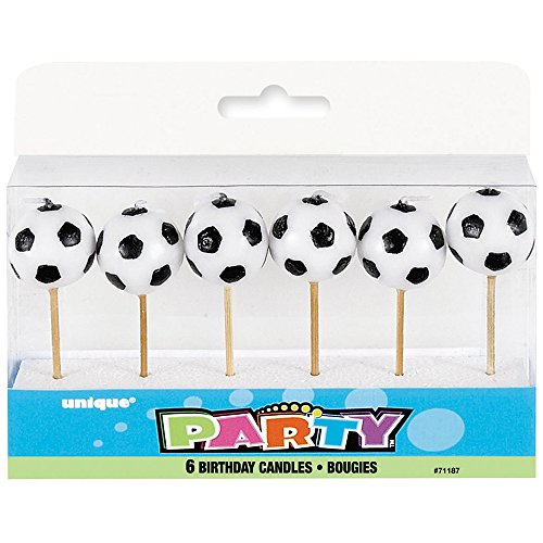 Als Fußball geformte Kerzen, 6Stück - 2