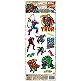 Thedecofactory RMK3140MS Marvel Comics Classic ROOMMATES REPOSITIONNABLES (12 Stickers), Vinyle, Multicolore, 36 x 14 x 0,1 cm