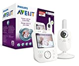 Philips Avent SCD630/26 Video-Babyphone, 3,5 Zoll Farbdisplay, weiß/grau