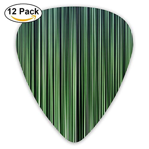 Colourful Stripes Gauge Acoustic Medium Guitar Picks (12-Pack) Kids Personalized 0.46/0.71/0.96 Mm Guitar