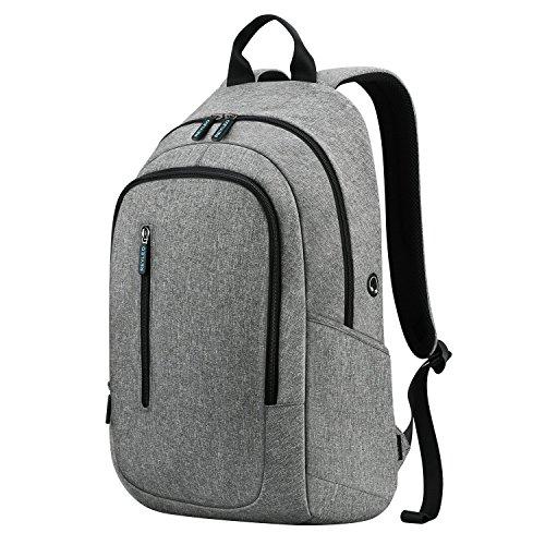 REYLEO Zaino scuola e università per uomo e donna zaino leggero e impermeabile backpack laptop ( Grigio )