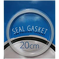 White 20cm Inner Dia Silicone Pressure Cooker Seal Sealing Ring Gasket