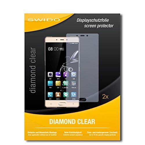 SWIDO 2 x Bildschirmschutzfolie Gionee Marathon M5 Enjoy Schutzfolie Folie DiamondClear unsichtbar