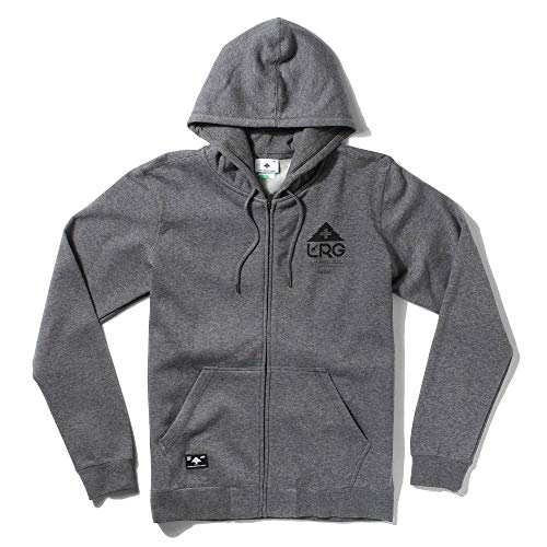 LRG One Icon Zip Hoodie Charcoal Heather - Icon Zip Hoodie