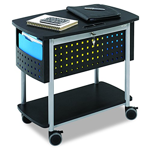 Safco Produkte 5370bl Scoot Mobile Datei mit Arbeitsfläche, Stahl, schwarz, Legal, Letter - Datei Laminat