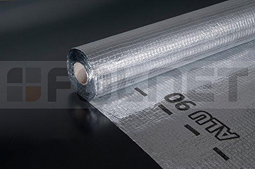 Energiesparrende Luft-und Dampfsperre Parotec ALU 90 (75m2) / 90 [g/m²]