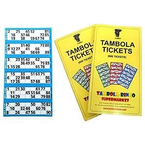Tambola Bingo Supermarket Tambola Tickets: Blue Border