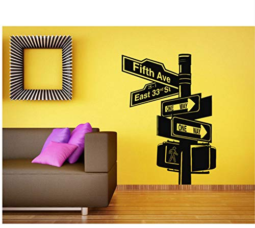 Wand Vinyl Aufkleber Zimmer Aufkleber Wandbild Design New York City Road Wohnzimmer Broadway 57X59CM