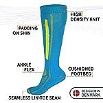 DANISH-ENDURANCE-Calze-da-Sci-e-Alpinismo-per-Uomo-Donna-e-Bambino-in-Lana-Merino-1-Paio-per-Snowboard-Escursionismo-Sport-Invernali-e-Trekking-Termiche-Tecniche-Protezione-Tibia-Lunghe
