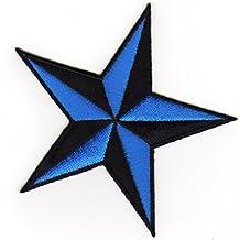 Stern Aufnäher Patch schwarz-rosa