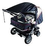 Sunnybaby 11270 Markise für Zwillingskinderwagen UPF 50+, schwarz