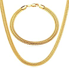24 Carat Gold Rhodium and Gold Plated Brass Chain for Men AUGUST1211