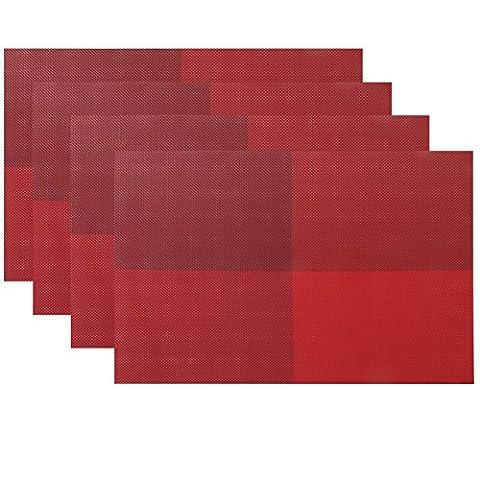 Joli tissu tissé Decor PVC Crossweave Table Sets de table lot de 4