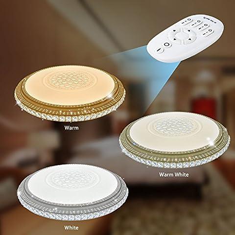 VINGO® Fernbedienung led kristall deckenleuchte Wandlampe Panel Kristall 50HZ Rund 180V-265V Wohnraum Korridor 320-4320LM Dimmen