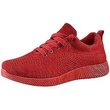 Zapatillas Deportivas de Mujer Calzados Casuales de Vuelo Real Zapatillas Deportivas de Color Caramelo Ligero y
