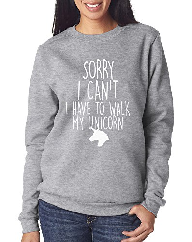 Sorry I Can't I Have To Walk To My Unicorn - Kinder Sweatshirt - unicorn unicorn t shirt T Shirtnage s get down off this - Alter 12/13 Grau (Walk T-shirt Off)