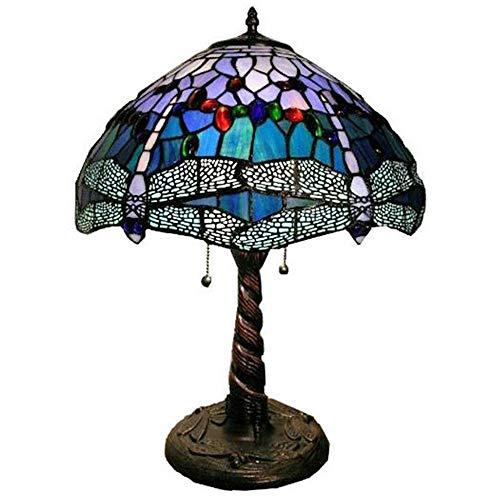 Y&HY Tiffany Stil handgemachte Tischlampe, Glasmalerei Material Lampenschirm Leselampen Cafe Bar Schreibtisch Lichter