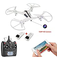 Drone with Camera, XK FPV Quadcopter with 720P Detachable Camera WIFI Live Video Remote Control Helicopter with Optical Flow, Trajectory Flight Mode, Gravity Sensing Control 17mins Flight Time Per Battery (Includes Extra Battery and 4GB SD Card) from Cell