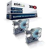 2x Kompatible Schriftbänder für Dymo D1 40913 Labelwriter 400 Duo 1000Plus 2000 3500 5500 Pocket 420 P S0720980 9 mm 9mm Black/White Etikettenband - Color Pro Serie
