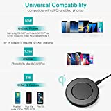 CHOETECH Fast Wireless Charger, Wireless Schnelles Aufladen,Induktives Schnellladegerät Kompatibel mit Apple iPhone XS/XS Max/XR/ X/ 8/8 Plus, Galaxy Note 9/S9/S9+/Note 8/S8/S8+/S7/S7 Edge/Note 5