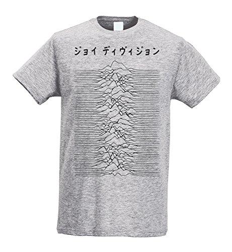 LaMAGLIERIA Camiseta Hombre Slim - Joy Division - Japan Logo -...