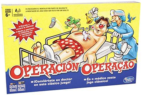 HASBRO GAMING B2176B09  JUEGO DE MESA OPERACION  VERSION ESPAÑOLA/PORTUGUESA