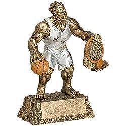 Monster baloncesto trofeo–Detallada oro y plata acabado–perfecto baloncesto premio trofeo resina–diseño de pintada a mano–fabricado por fundición–gran para reconocimiento