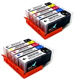 10x Office Channel24 Druckerpatronen kompatibel zu Canon PGI 570XL CLI 571XL für CANON PIXMA MG5750 MG5751 MG5752 MG5753 MG6850 MG6851 MG6852 MG6853 MG7750 MG7751 MG 7752 MG 7753 TS5050 TS5051 TS6050 TS6051 TS8050