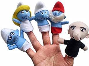 Inventure Retail House Of Quirk Smurf Trizolam Puppet Set Of 5Pcs