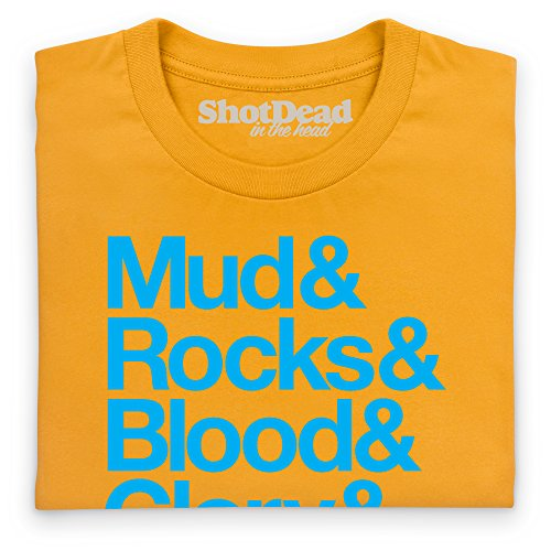 Mud Rocks T-Shirt, Herren Gelb