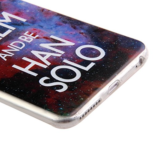 iPhone 6S Hülle,iPhone 6 Hülle [Scratch-Resistant],iPhone 6S / 6 Hülle 4.7, ISAKEN iPhone 6S 6 4.7 Ultra Slim Perfect Fit Bunt Muster TPU Clear Transparent Protective back Hülle Hüllen Beschützer Haut Keep Calm and Be han solo