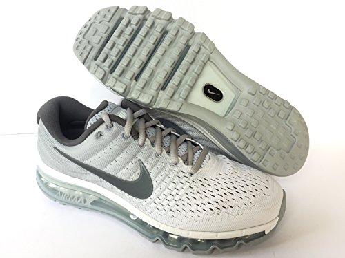 Nike Ar Max 2017 Homens Sapatos Casuais 849559-400 Branco (branco / Cinzento Escuro / Cinzento Lobo)