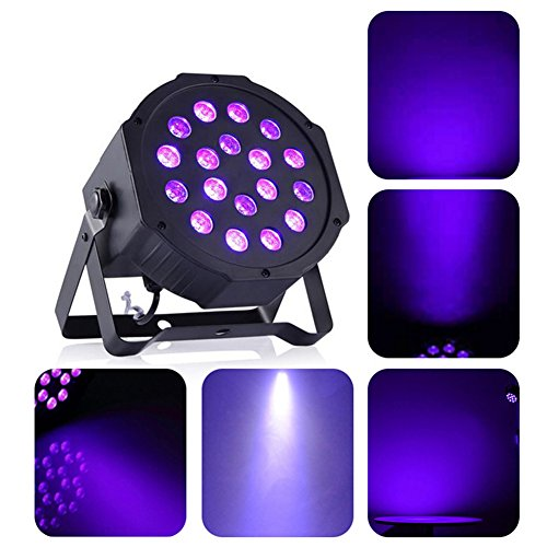 Bunt DMX Bühne Beleuchtung 18 LED / 36 LED / 54 LED Laserlampen, AOKARLIA RGB Hochzeit / Party Home-Entertainment Lampe Beleuchtung,18LED (Zurück Vor Karaoke)