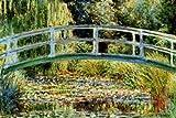 Poster 'Die japanische Brücke in Giverny', von Claude Monet, Größe: 91 x 61 cm