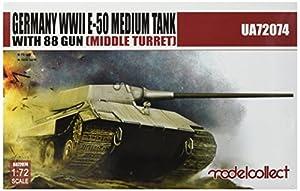 Modelcollect ua72074Maqueta de Alemania WWII S de 50Medium Tank with 88Gun Middle Turret