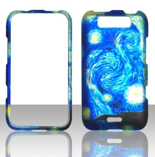2D blau Design LG Connect MS840Metro PCS Fall Hard Handy Snap auf Cover Fall Displayschutzfolie Htc Snap-handy