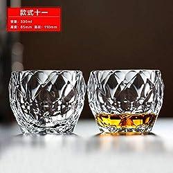 Luxury glass Coupe en Verre De Whisky en Verre, Tasse À Vin, Tasse À Jus, Tasse À Lait, Tasse À Thé, Tasse À Bière, [Prix De Deux] Sphérique