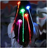 Iiooii 10x led light up hair extensions fibre optic hair clip in ultra led hair extensions light up clip in packs of between 1 to 50 coloured hair pmusecretfo Choice Image