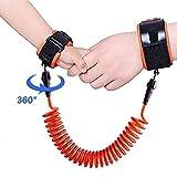 TRDCZ Antiverlust-Handgelenk-Verbindungs-Kleinkind-Leine-Sicherheitsgurt Für Baby-Bügel-Seil-Im Freien Gehende Handgurt-Band Anti-Verlorene Armband-Kinder 1.5M,Orange