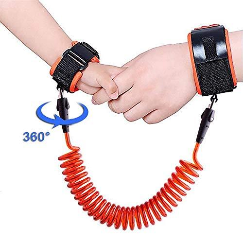 TRDCZ Kinder-Antiverlust-Handgelenk 1.5M Bügel-Seil-Kleinkind-Leine-Sicherheits-Geschirr-Im Freiengehender Handgurt-Band Anti-Verlorenes Armband,Orange