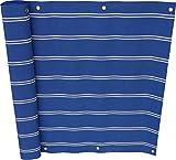 Angerer Balkonbespannung Dralon Nr. 9400, Blau, 75 cm hoch, Länge: 8 Meter