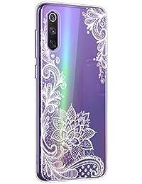 Oihxse Mandala Flores Encaje Patrón Serie Case Compatible con Xiaomi Redmi Note 8 Pro Funda TPU Silicona Suave Protector Ultra Slim Anti-Rasguño Transparente Carcasa (A8)