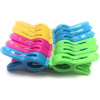 Shubham Gifts Plastic Cloth Hanging Clip Set of 24 Pieces(2-Dozen)-Keep Your Towel from Blowing Away, Clothes Lines…