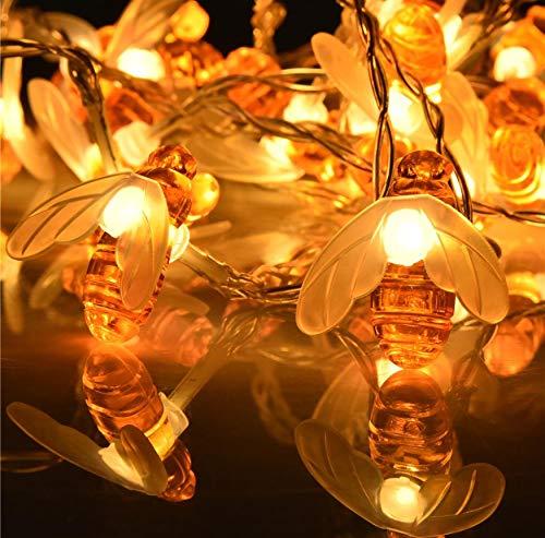 Bee Lichterketten LED Solar Power LEDs Strings Wasserdichte Garten Dekorative Lichter Patio Zaun Gazebo Sommer Nachtlicht