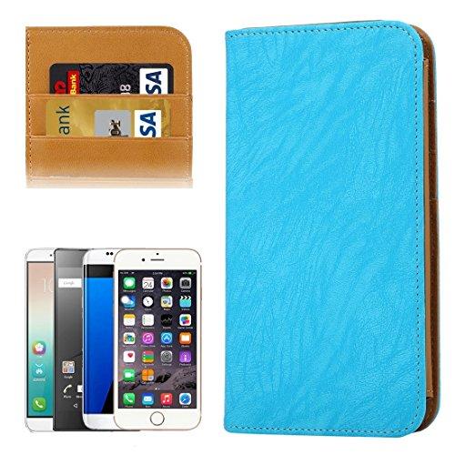 DaYiYang Case Cover Brieftasche Stil Horizontale Flip Leder Tasche mit Foto Frame & Card Slots & Wallet & Lanyard für Samsung Galaxy S7 Edge / iPhone 6 Plus & 6s Plus / Huawei Mate 8 ( Color : Magenta Blue