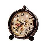 Style créatif réveil muet salon chambre vieux artisanat horloge de table en métal...