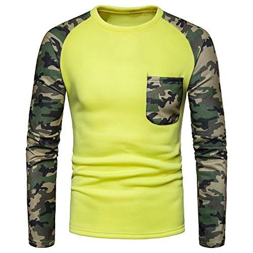 Männer Camouflage Slim Fit Shirt Tops Bluse T-Shirt -