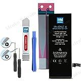 Batterie de remplacement longue durée pour iPhone 6 (Outils et Manuel d'instructions inclus) Li-Ion 3,8V 1810 mAh 6,9 W.h MMOBIEL
