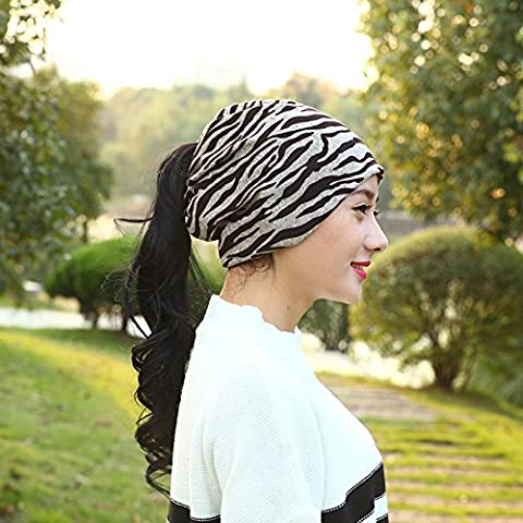 Esclusivo Unisex cavo caldo maglia spessa Slouch Beanie Hat Cap sci , khaki
