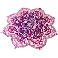 Ruiting Mandala Redonda Tapiz Lotus patrón de la Toalla de Playa Yoga Mat Manta Mantel Decoración